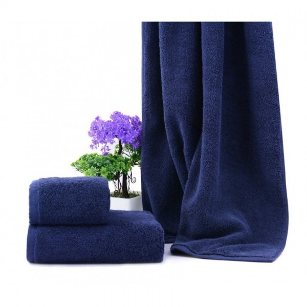 Bath Towel 30 x 60 Inch Cotton High Quality Hotel Home Spa Towels Navy Blue 2 Pcs