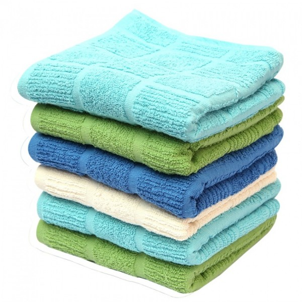 Hand Towels 16 x 27 Inches 100% Cotton Multicolor Towel Soft Face And Hand Wash Towel 6 pcs