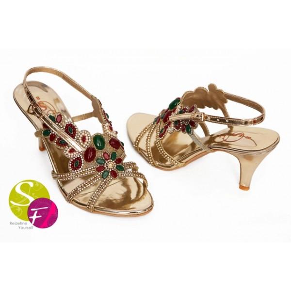 Beautiful Ladies Golden Heels-742