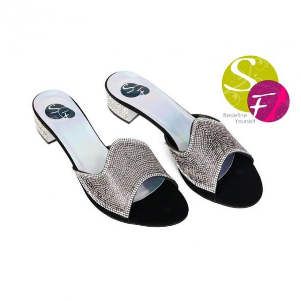 Black Slippers For Her 351