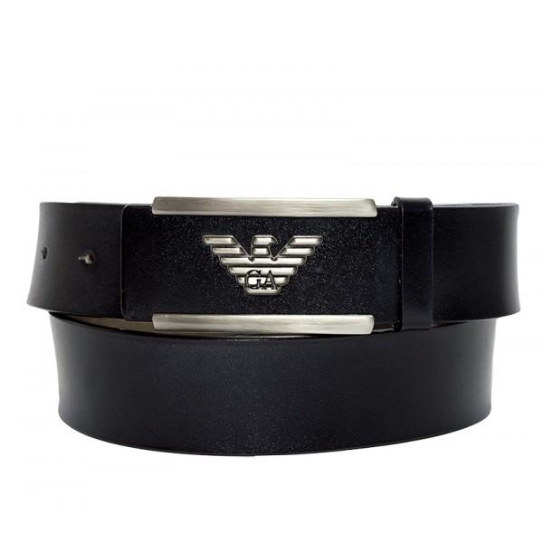 Branded Casual Black Leather Belt for Men MBAR-12