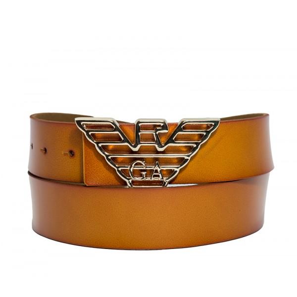 Branded Brown Leather Belt for Men MBAR-13