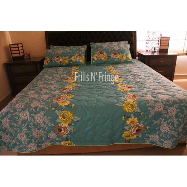 High Quality Bed Sheet Green Cotton 004
