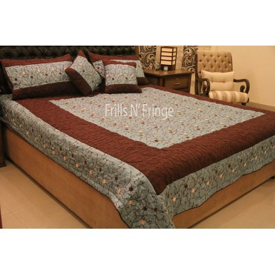 High Quality Silk Embroidered Bedspread 002