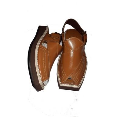 Kaptaan Style Brown Peshawari Sandal