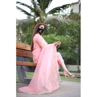 Pink color 3 Pcs lawn collection