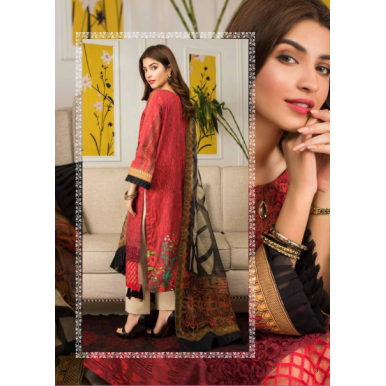 D01 - Unstitched Lawn Mahnoor Collection by Al Zohaib