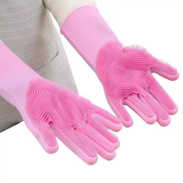 Waterproof Silicon Gloves Dish Washing for Kitchen Use