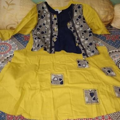 Deepmala Pure Cotton Kurti with Coat - Stitched Kurti