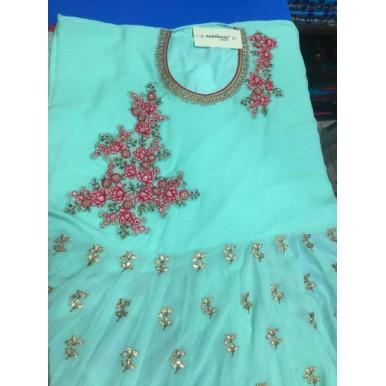 AASHIRWAD Georgette Unstitched DRESS