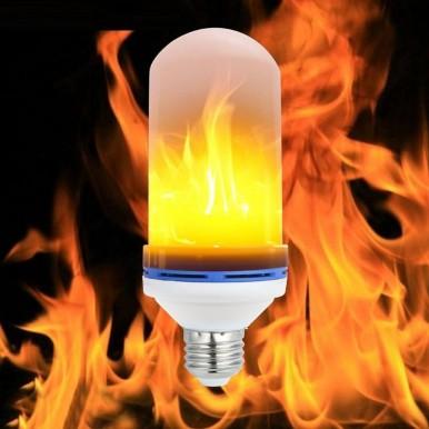 Flame Lamp E27 LED Fire Effect Bulb Home Decoration Night Light