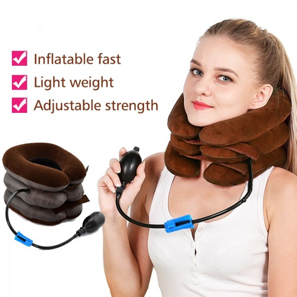 Inflatable Neck Cervical Vertebra Traction Soft Brace Support Device Neck Pain Neck Tractor
