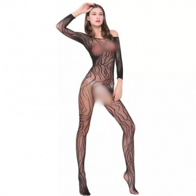 Net Crotchless Body stocking in Black Color