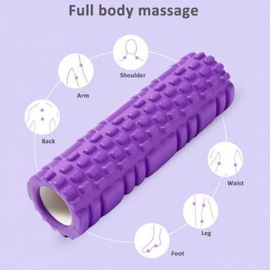 9.5 x 30cm Yoga Block Fitness Equipment Pilates Foam Roller Yoga Exercises Muscle For Fitness