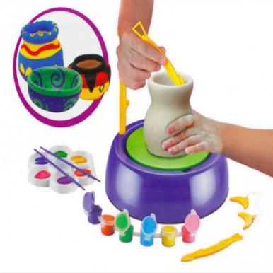 Handicraft Art Toys Hand Made Ceramic Pottery Wheel with DIY Clay Kits