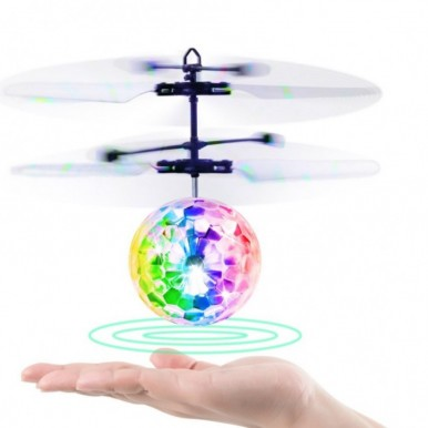 Flying Ball Infrared Induction Helicopter Toy with Shining LED Light