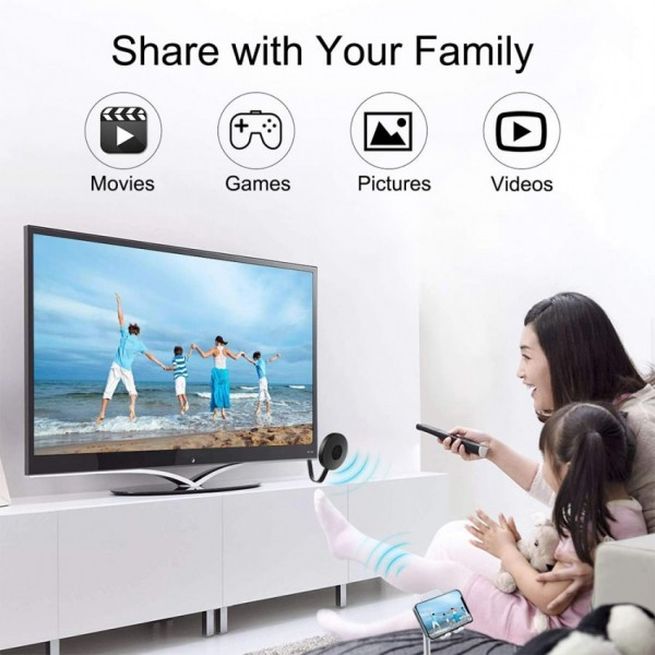 WiFi Display TV Dongle Receiver Chrome cast 4K HDMI TV Stick Screen Mirroring DLNA Mira cast Android IOS