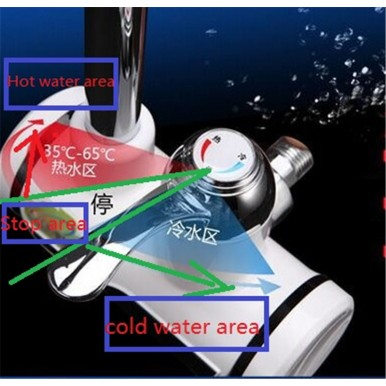 Tankless Electric Hot Water Heater Faucet Kitchen Instant Heating Tap Water with LED