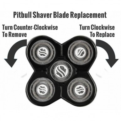 Skull Shaver Pitbull Platinum Mens Electric Shaver Razor For Head And Face Rechargeable