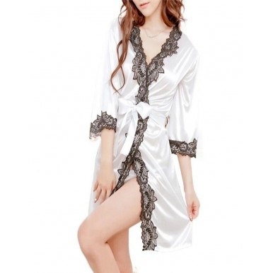Amazing Lace Bathrobe Night Gown for Women