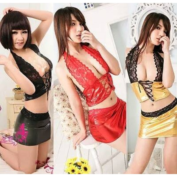 Baby Doll silk Shirt and Skirt Lingerie