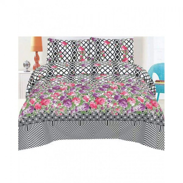 Floral Cotton Printed Bed Sheet Sets CC-381