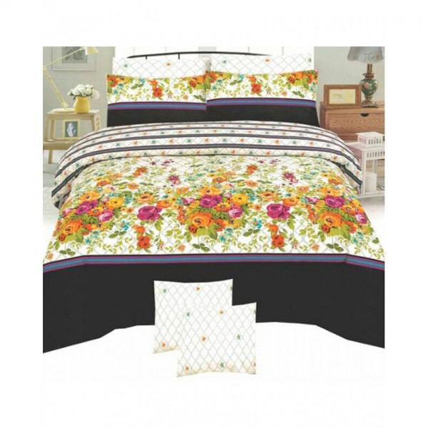 Floral Cotton Printed Bed Sheet Sets CC-390