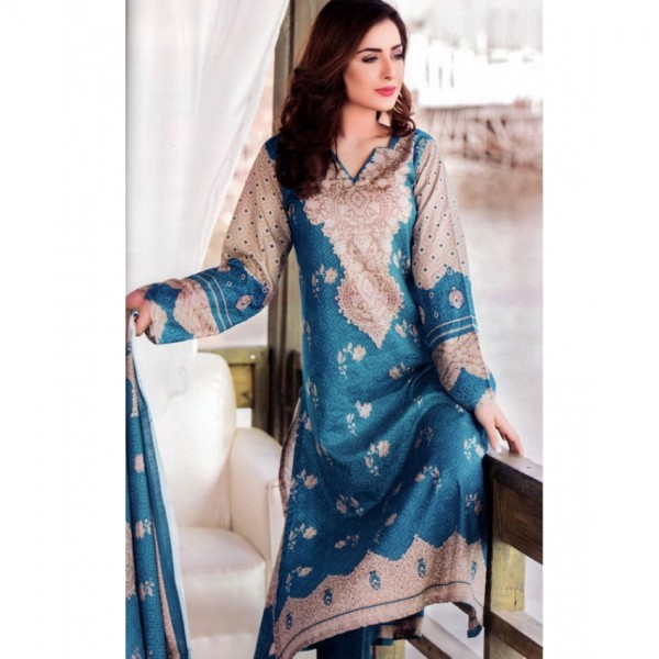 Star Classic 2017 Printed Lawn Suit with Lawn Dupatta - BB01