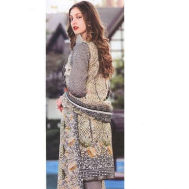 Star Classic 2017 Printed Stitched Lawn Suit with Lawn Dupatta - BG03-B