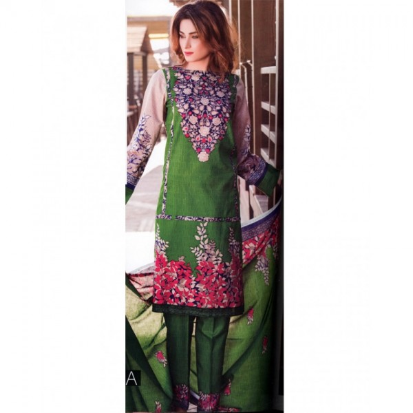 Star Classic 2017 Printed Lawn Suit with Lawn Dupatta - GB01