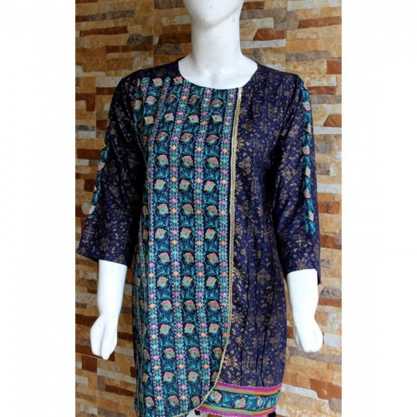 Ladies Readymade Designer Embroidered Lawn Kurti