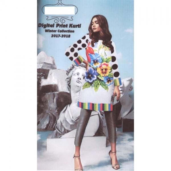 Floral Ladies Designer Digital printed Linen Kurti unstitch