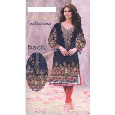 Floral Ladies Designer Embroidered Linen Kurti unstitch