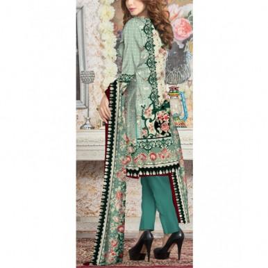 Ladies Designer Printed Linen Suit - TG9239