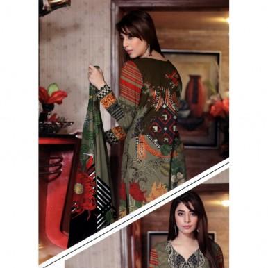 Winter Collection Ladies Designer Digital Printed Twill Suit - BB87