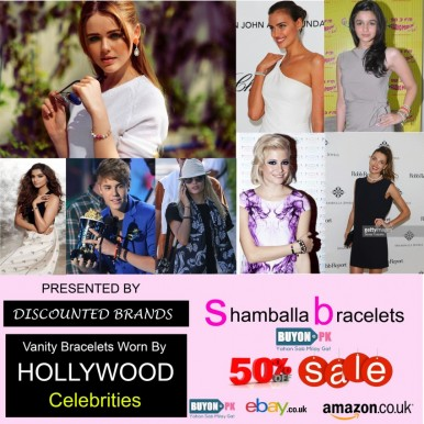 Hollywood Celebrities Shamballa Bracelet Rhinestone Crystal Disco Ball Adjustable Bracelet UK A101
