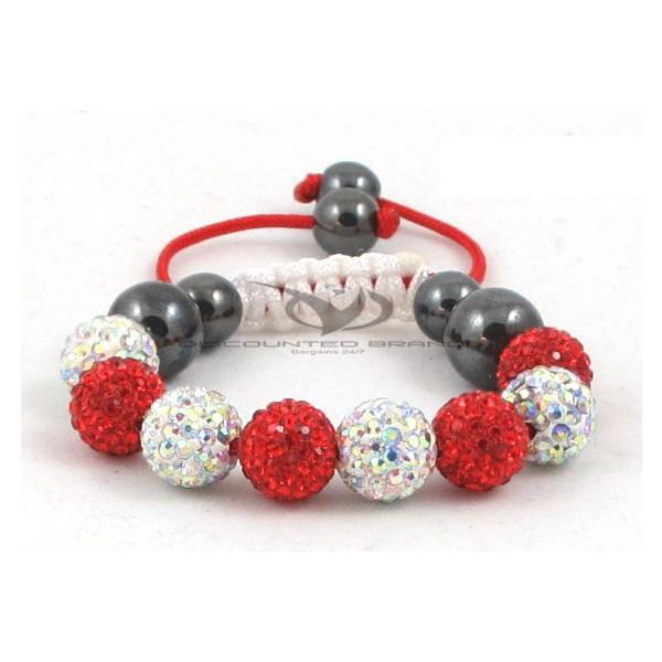 Kids Shamballa Bracelet Rhinestone Crystal Disco Ball Adjustable Bracelet UK For Her A111