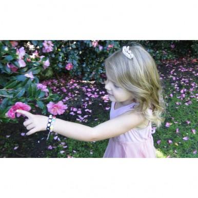 KIDS SHAMBALLA BRACELET RHINESTONE CRYSTAL DISCO BALL ADJUSTABLE BRACELET UK For Her A112