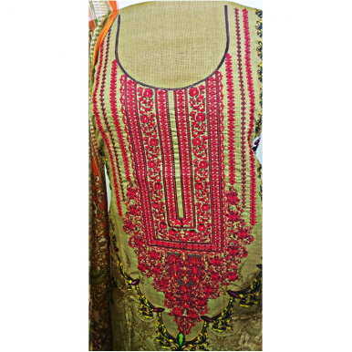 3pcs Printed Lawn with Embroidery TA-004