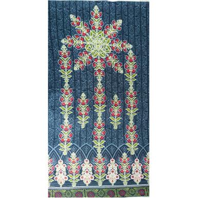 Blue Color Embroidered lawn dress with Chiffon Dupatta 3pcs TA-001