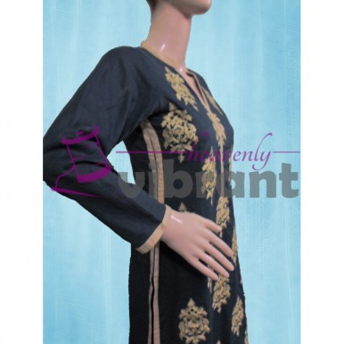 Formal wear - Embroided teal 3 piece suit for her A105