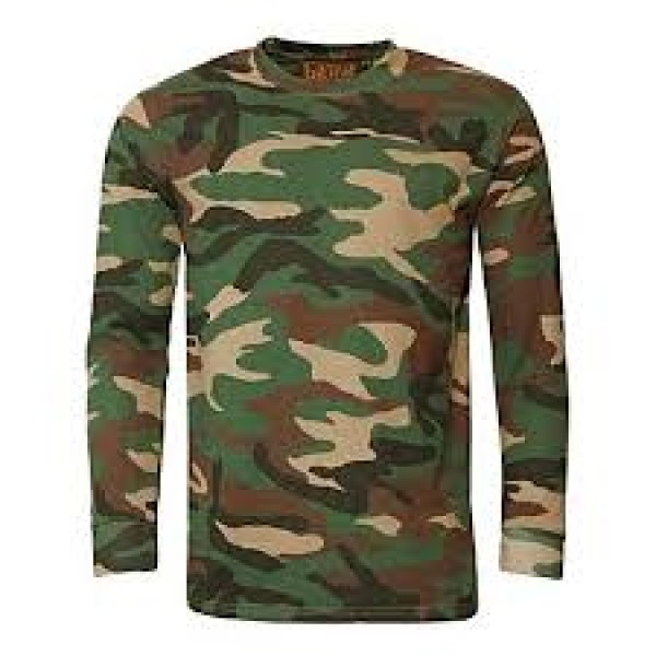 Multi color Cotton Camo T-shirt For Men