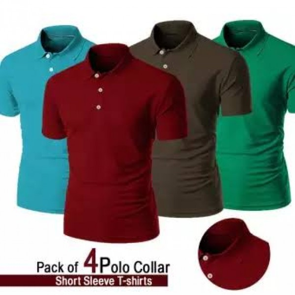 Pack Of 4 Polo T Shirt For Men
