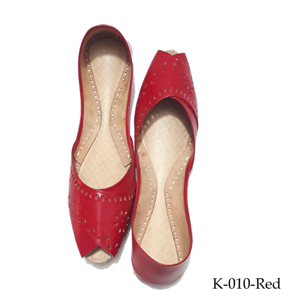Khussa for women In Dark Red - Leather