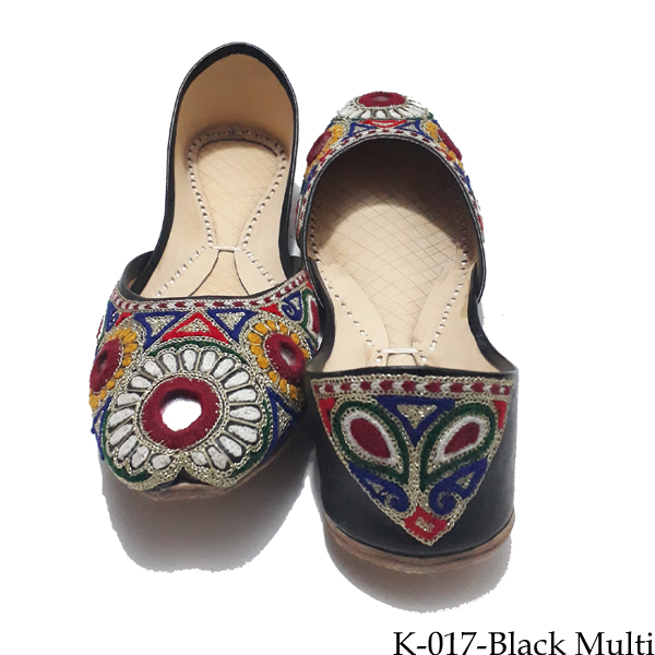 Tana Bana Leather Khussa For Women Nude (K-012) Price in