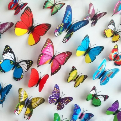 4 Pieces Butterfly Wall Stickers for Decoration