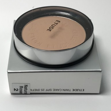 Face Powder Twin Cake SPF 25 ( Refill and Puff ) - Natural Beige 2