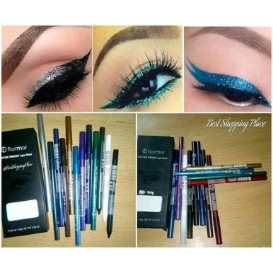 Eye Liner Water Proof for Girls - Pack of 12 Pencils