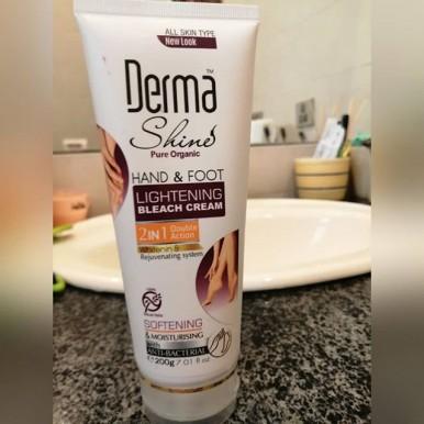 Hand and Foot Lightening Bleach, Derma Shine for Girls - 200 gm