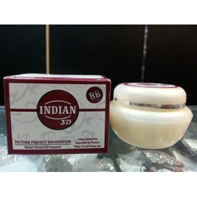 Indian BB 3D Base Foundation Water Proof Oil Control in Handi Shape - Shade Ivory